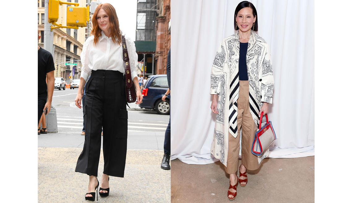 item 11 of Gallery image - Julianne Moore walking in New York City and Lucy Liu attends the Tory Burch Fall Winter 2020 Fashion Show