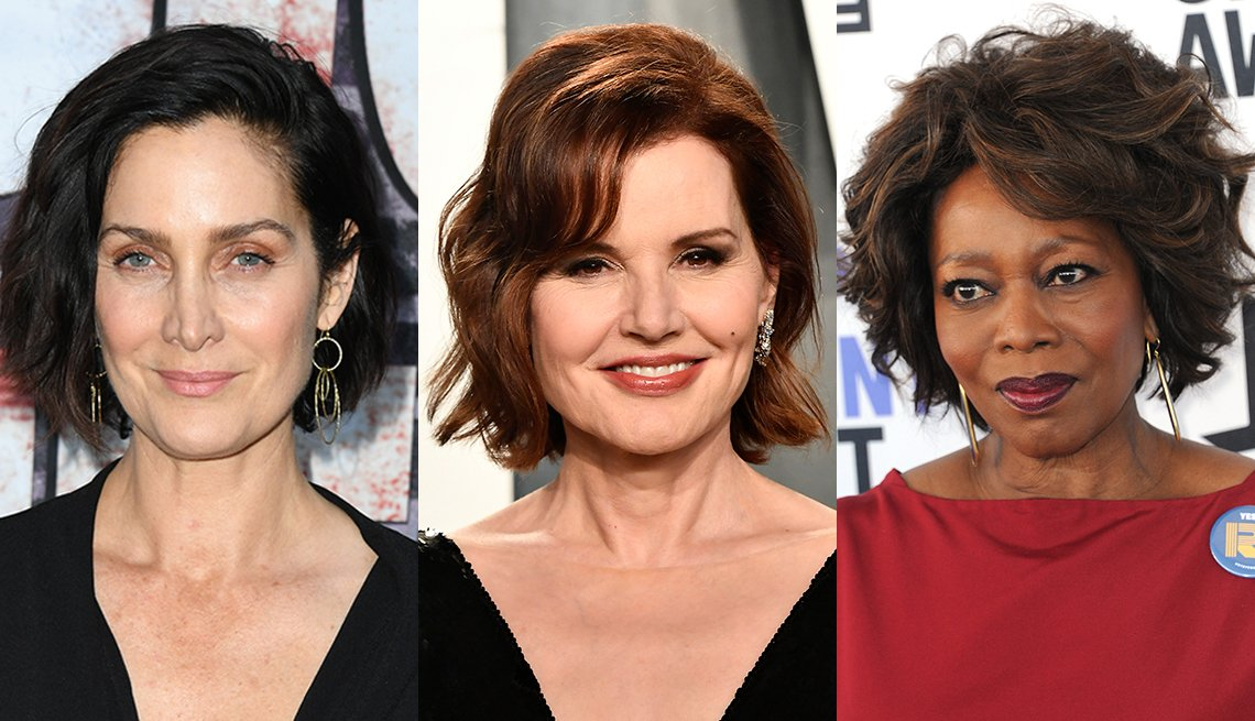 Carrie Anne Moss Geena Davis and Alfre Woodard
