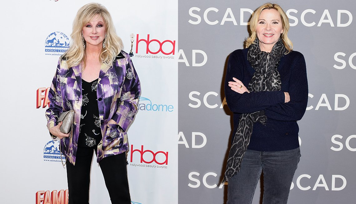 item 8, Gallery image. Morgan Fairchild (left) and Kim Cattrall