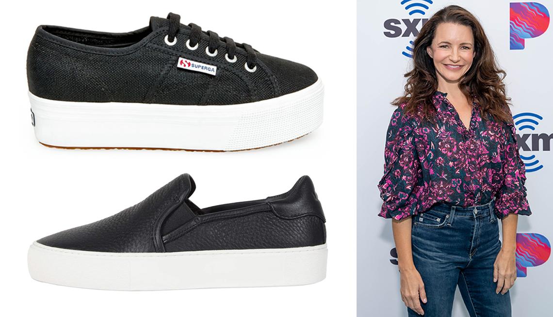 item 6 of Gallery image - (Desde abajo a la izq., en el sentido de las agujas del reloj) Ugg Jass; Superga 2790 Acotw Platform Sneaker; Kristin Davis luce jeans de cintura alta