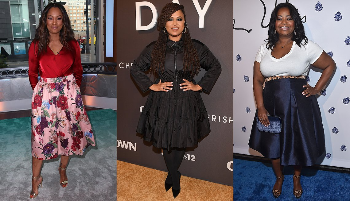 Garcelle Beauvais Ava DuVernay and Octavia Spencer each wearing midi skirts