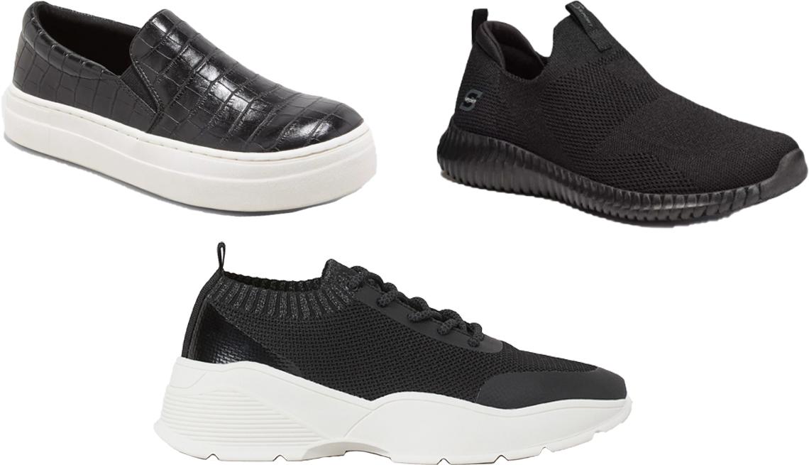 item 7 of Gallery image - (En sentido de las agujas del reloj, desde la esquina superior izquierda) Zapatillas Bibi de A New Day; zapatillas deportivas sin cordones Kendal de S Sport by Skechers; tenis en malla de H&M