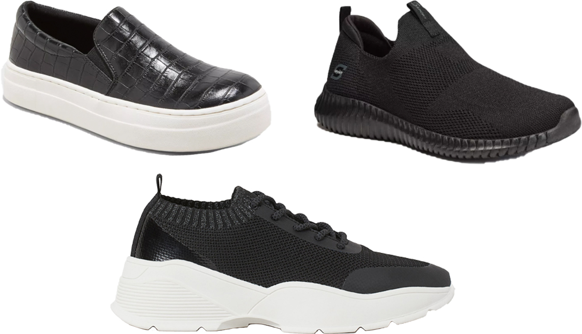 item 7 of Gallery image - A New Day Womens Bibi Sneakers S Sport by Skechers Kendal Slip On Performance Athletic Shoes; H and M Fully Fashioned Sneakers