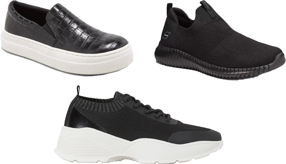 item 7, Gallery image. (Clockwise from top left) A New Day Women's Bibi Sneakers; S Sport by Skechers Kendal Slip-On Performance Athletic Shoes; H&M Fully-Fashioned Sneakers