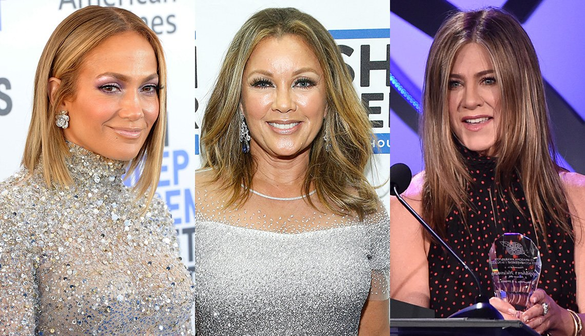 (De izquierda a derecha) Jennifer Lopez, Vanessa Williams y Jennifer Aniston