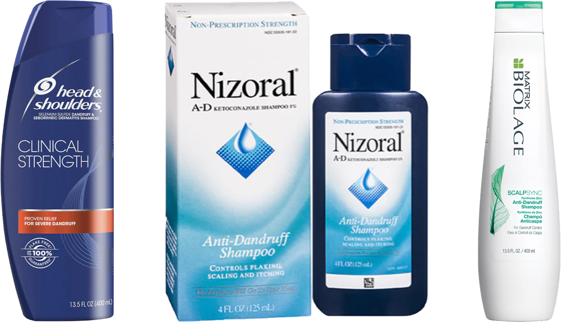 item 6 of Gallery image - Head & Shoulders Clinical Strength Anti-Dandruff Shampoo; Nizoral Anti-Dandruff Shampoo; Matrix Biolage Scalpsync Anti-Dandruff Shampoo