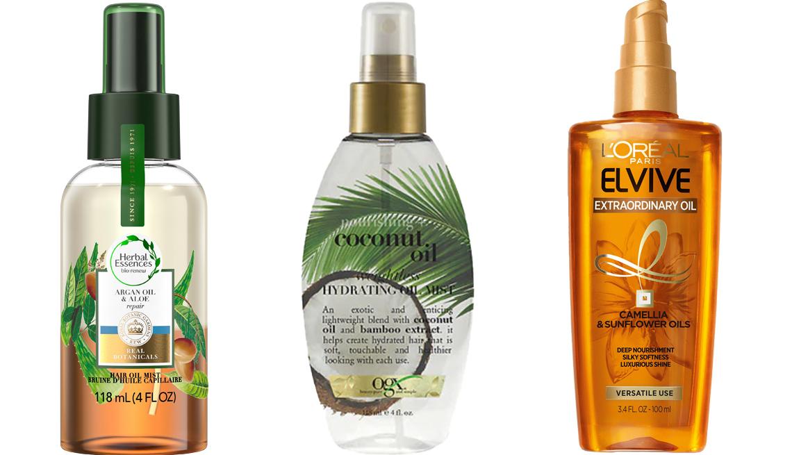 item 6 of Gallery image - Herbal Essences Bio:Renew Argan Oil & Aloe Hair Oil Mist; OGX Nourishing Coconut Oil Weightless Hydrating Oil Mist; L'Oréal Paris Elvive Extraordinary Oil