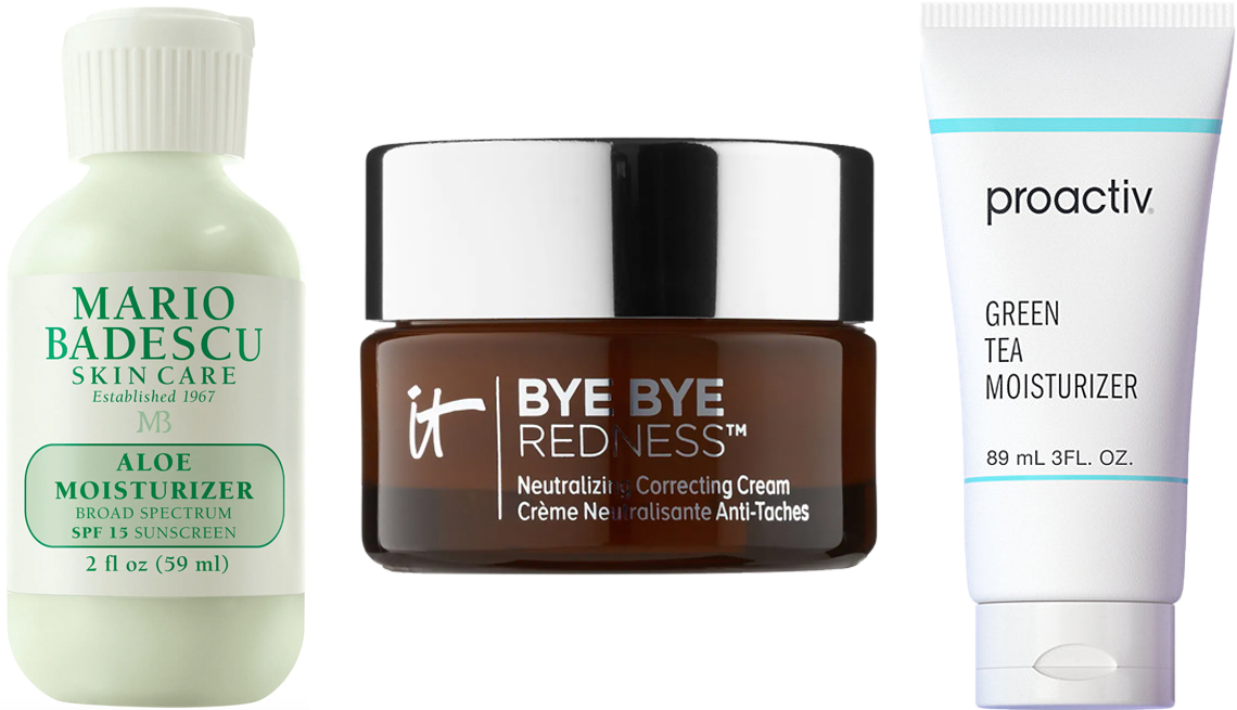 item 8 of Gallery image - (De izquierda a derecha) Mario Badescu Aloe Moisturizer; It Cosmetics Bye Bye Redness Neutralizing Color-Correcting Cream; Proactiv Green Tea Moisturizer
