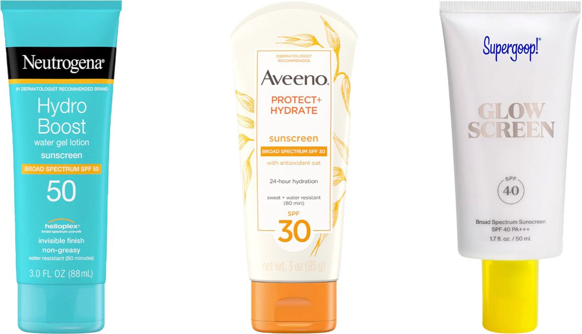 item 8 of Gallery image - Neutrogena Hydro Boost Moisturizing Sunscreen SPF 50; Aveeno Moisturizing Sunscreen Lotion SPF 30; Supergoop! Glow Screen Broad Spectrum Sunscreen SPF 40