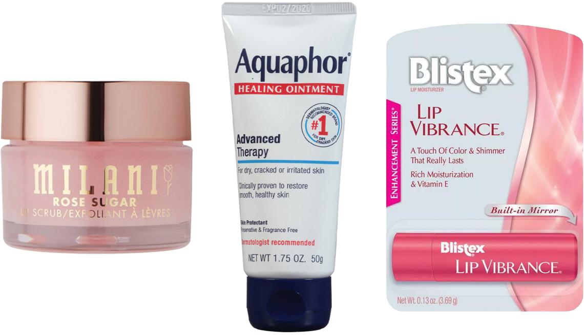 item 10 of Gallery image -  (De izq. a der.) Milani Rose Sugar Lip Scrub; Aquaphor Healing Ointment; Blistex Lip Vibrance Lip Balm