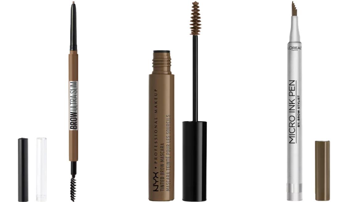 item 7 of Gallery image - (De izquierda a derecha) Maybelline Brow Ultra-Slim Defining Eyebrow Pencil; NYX Professional Makeup Tinted Brow Mascara; L'Oréal Paris Micro Ink Pen by Brow Stylist Up to 48H Wear.