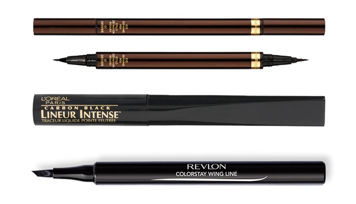 item 5 of Gallery image - Tom Ford Eye Defining Liquid Liner Pen; L'Oréal Paris Lineur Intense Felt Tip Liquid Eyeliner in Carbon Black; Revlon ColorStay Liquid Eye Pen