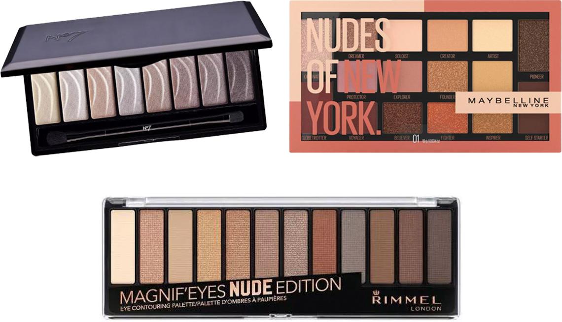 item 9 of Gallery image - (En el sentido del reloj desde arriba) No7 Stay Perfect Eyeshadow Palette en nude; Maybelline Nudes of New York Eyeshadow; Rimmel Magnif'Eyes Eyeshadow Palette001 en nude edition.