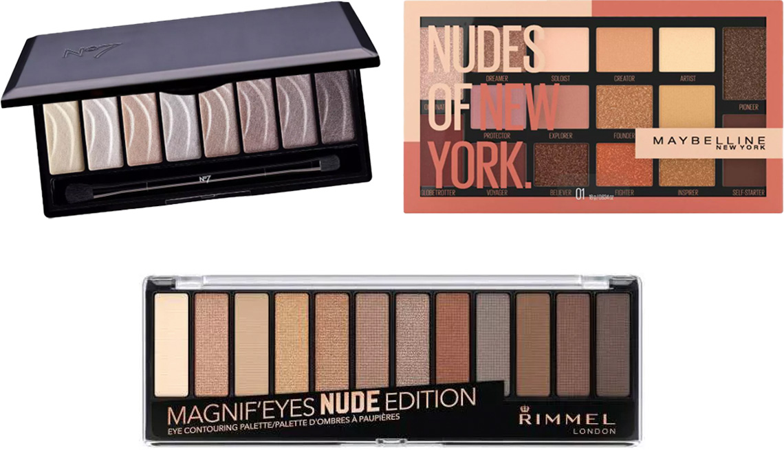 item 9 of Gallery image - No7 Stay Perfect Eyeshadow Palette in nude; Maybelline Nudes of New York Eyeshadow; Rimmel Magnif'Eyes Eyeshadow Palette001 in nude edition