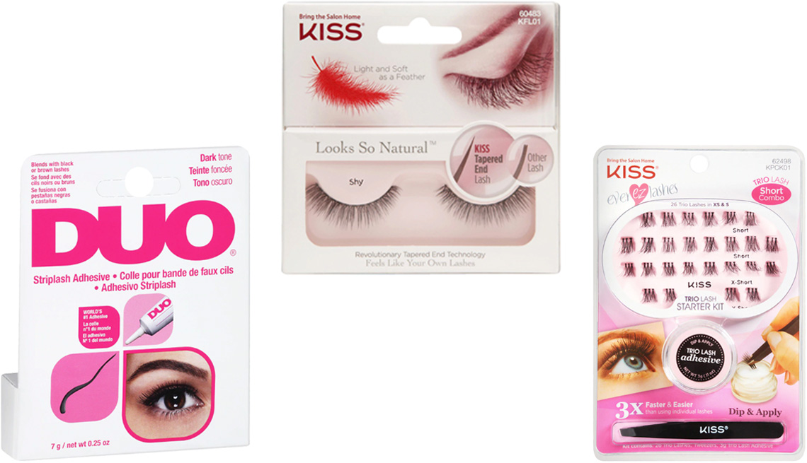 item 9 of Gallery image - Duo Striplash Adhesive; Kiss Looks So Natural Eyelashes; Kiss Ever EZ Lashes Trio Lash Starter Kit