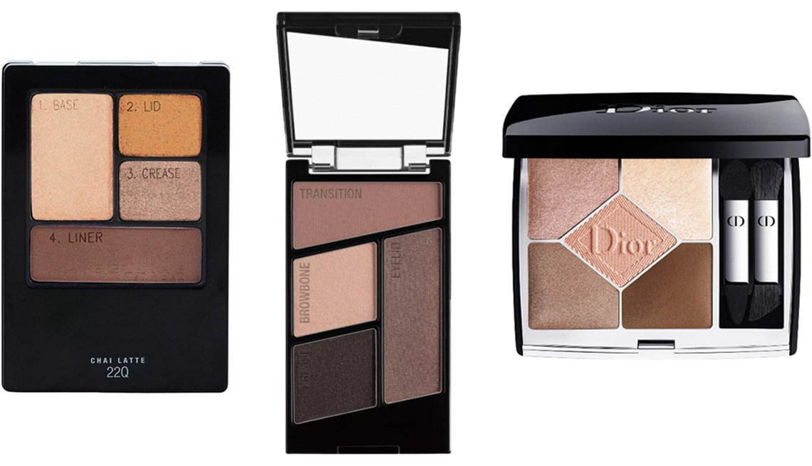 item 7 of Gallery image - Maybelline Expert Wear Eyeshadow Quads in 22Q Chai Latte; Wet n Wild Color Icon Eyeshadow Quad in Silent Treatment; Dior 5 Couleurs Couture Eyeshadow Palette in 649 Nude Dress