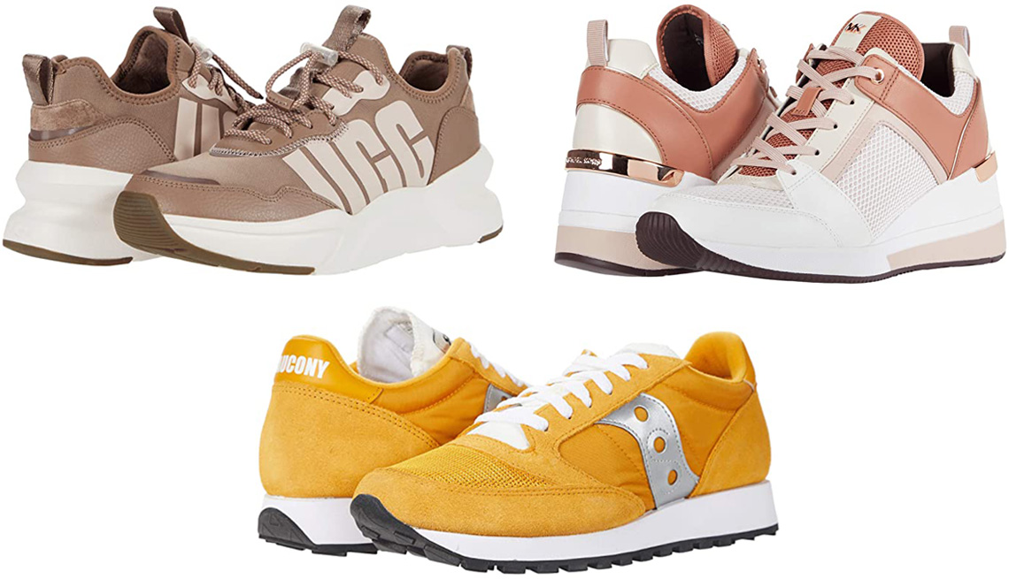 item 6 of Gallery image - Ugg La Daze; Michael Kors Georgie Trainer; Saucony Originals Jazz Original Vintage in yellow/white/silver
