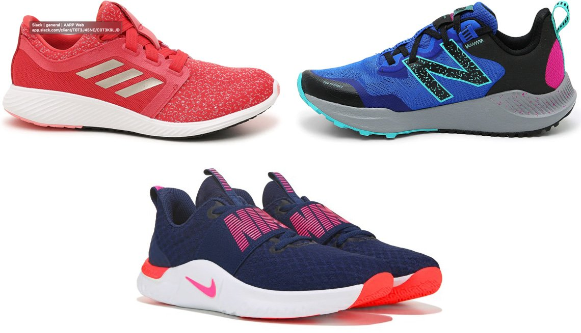 item 10 of Gallery image - Adidas Edge Lux 3 Lightweight Running Shoe-Women's in red; New Balance Nitrel V4 Trail Running Shoe; Nike Women's In Season 9 Training Shoe in navy/pink
