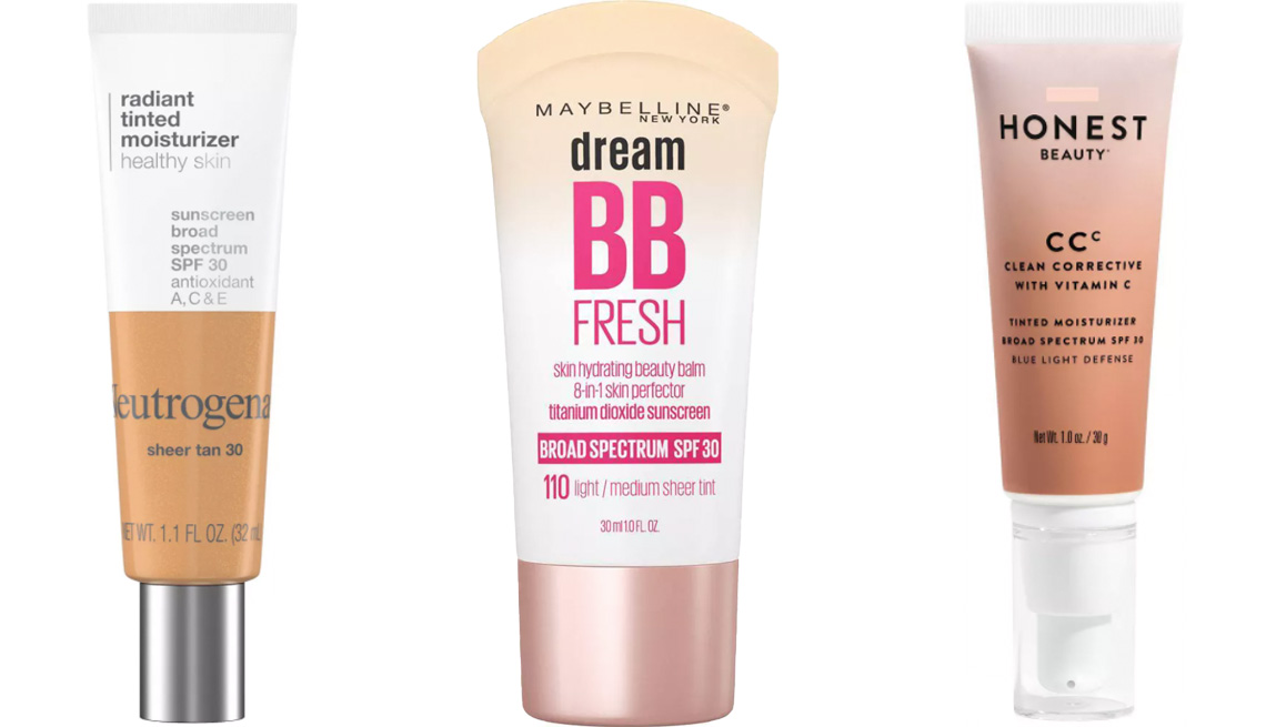 item 2 of Gallery image - Neutrogena Radiant Tinted Moisturizer with SPF 30; Maybelline Dream Fresh BB Cream SPF 30; Honest Beauty Clean Corrective CC with Vitamin C SPF 30
