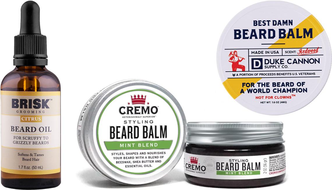 item 10 of Gallery image - Brisk Grooming Beard Oil in Citrus; Cremo Styling Beard Balm Mint Blend; Duke Cannon Best Damn Beard Balm