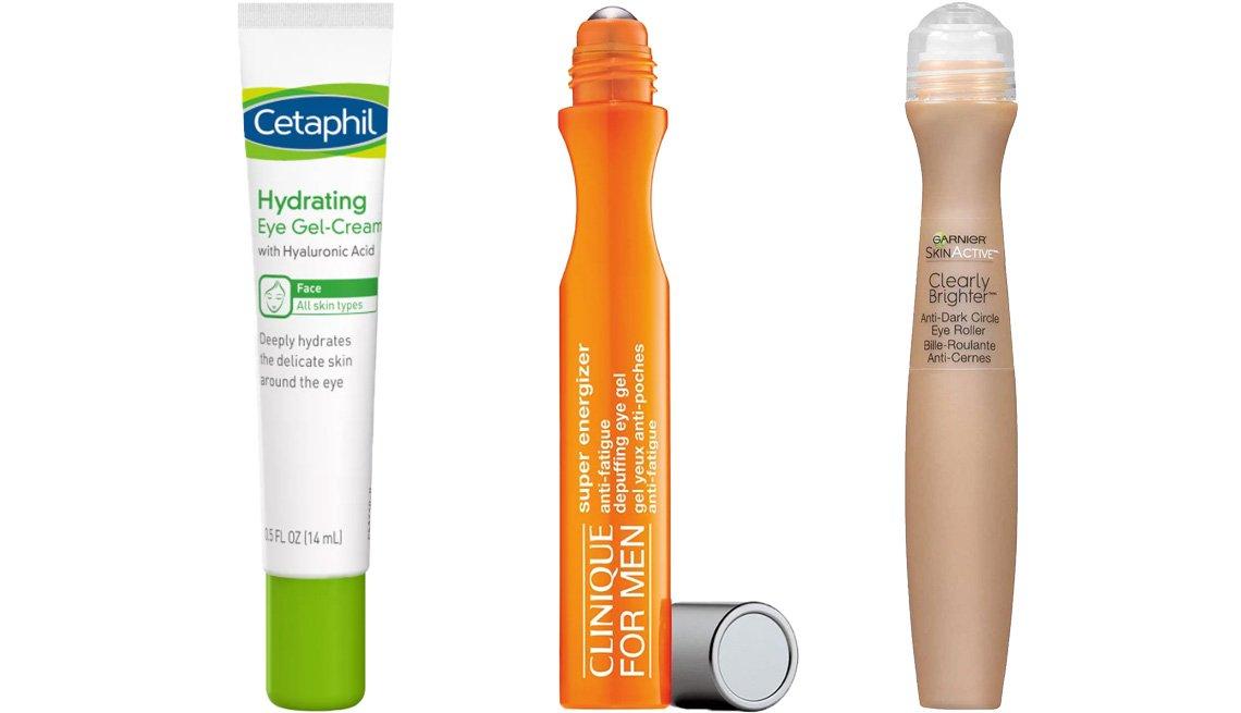 item 3 of Gallery image - Cetaphil Hydrating Eye Gel Cream; Clinique for Men Anti-Fatigue Eye Gel; Garnier SkinActive Clearly Brighter Anti-Dark Circle Eye Roller
