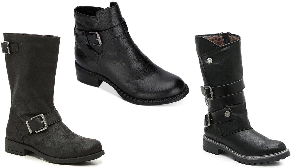 item 7 of Gallery image - Crown Vintage Denema Boot in black; Gentle Souls by Kenneth Cole Women's Best Moto Lug Sole Booties; Blowfish Raexly Boot in black