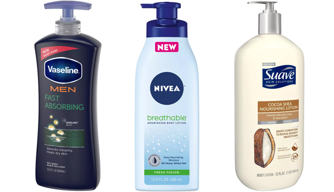 item 6 of Gallery image - Vaseline Men Fast Absorbing Body & Face Lotion; Nivea Breathable Fresh Fusion Body Lotion; Suave Smoothing Cocoa Shea Nourishing Body Lotion