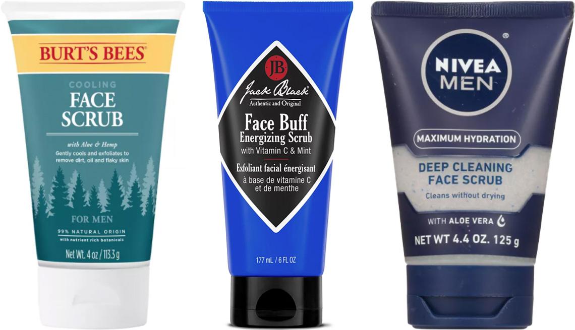 item 2 of Gallery image - Burt's Bees Men's Face Scrub; Jack Black Face Buff Energizing Scrub; Nivea Men Maximum Hydration Face Scrub