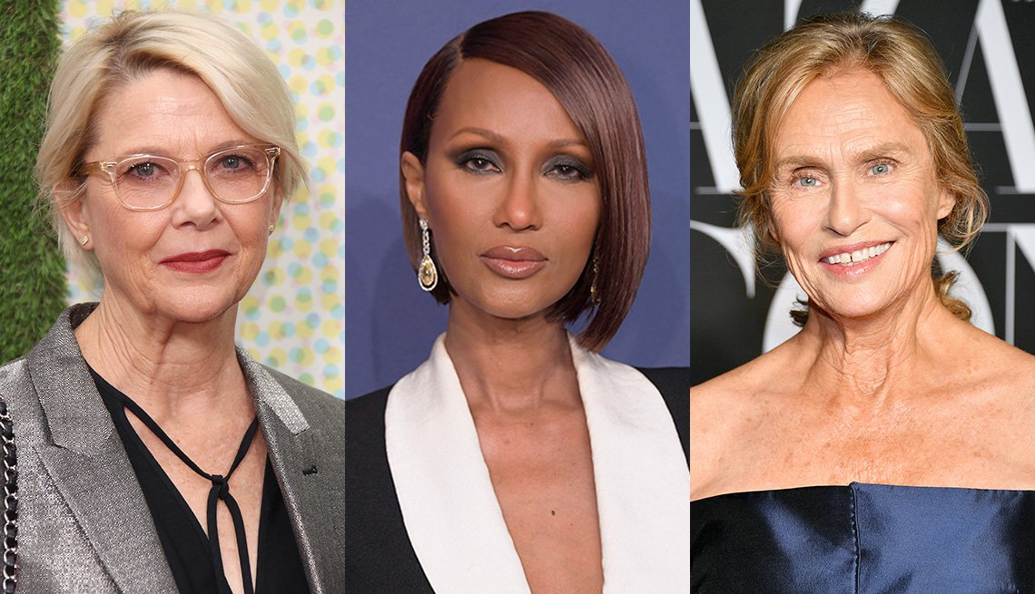 item 1 of Gallery image - Side by side images of Annette Bening, Iman and Lauren Hutton