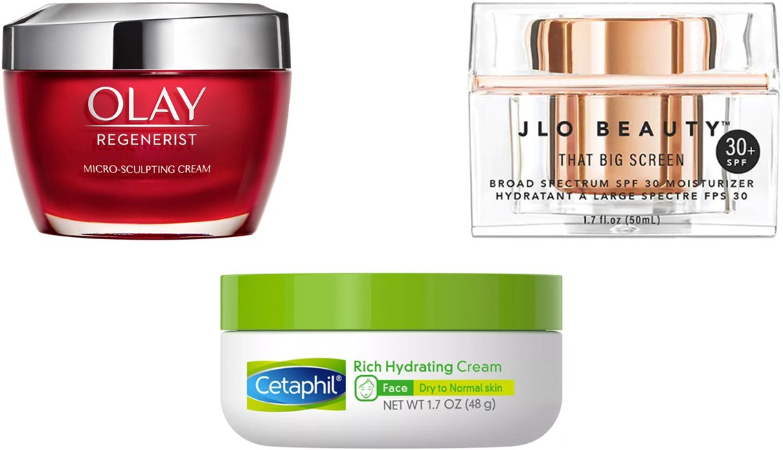 item 3 of Gallery image - Olay Regenerist Micro-Sculpting Cream; JLo Beauty That Big Screen Moisturizer with Broad Spectrum SPF 30; Cetaphil Rich Hydrating Cream