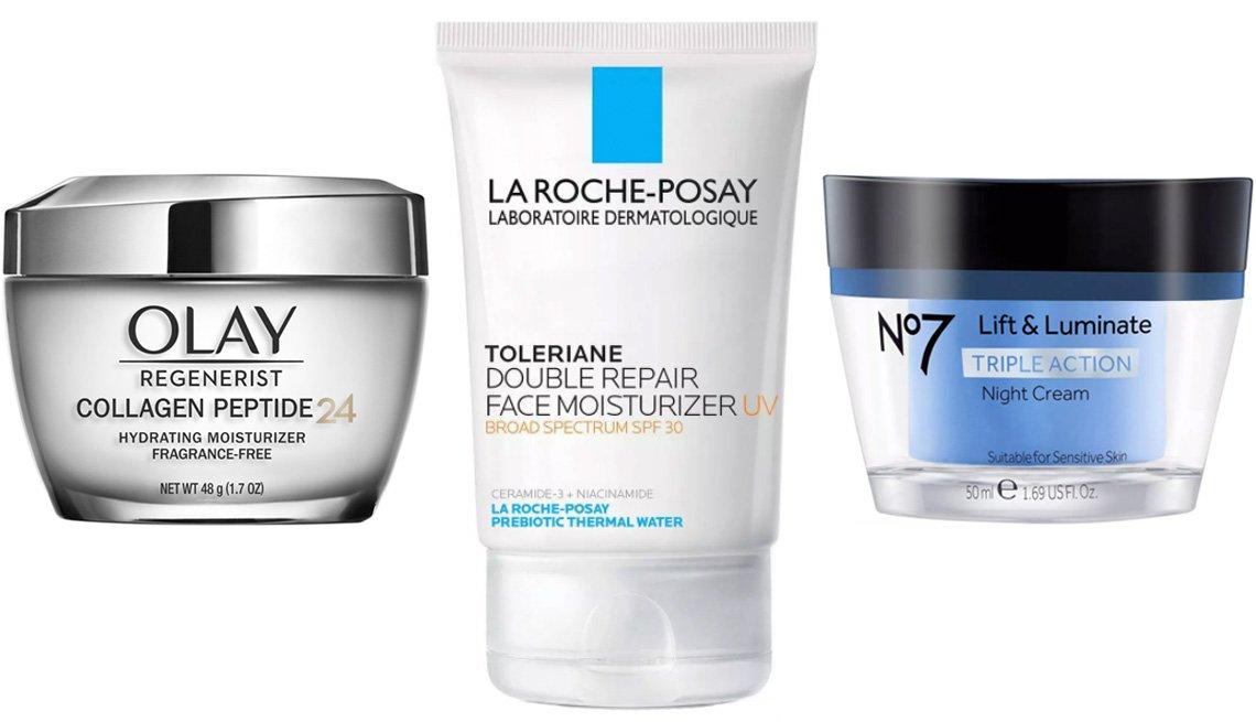 item 5 of Gallery image - Olay Regenerist Collagen Peptide 24 Hydrating Moisturizer; La Roche-Posay Toleriane Double Repair Face Moisturizer SPF 30; No7 Lift & Luminate Triple Action Night Cream