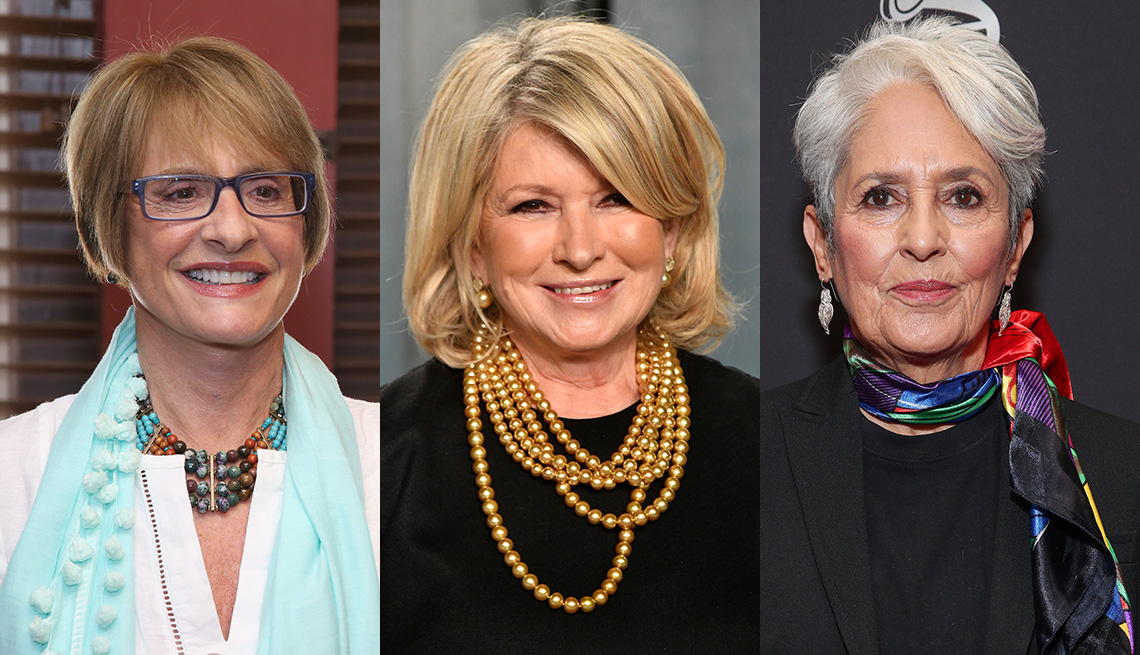 item 9 of Gallery image - (De izquierda a derecha) Patti LuPone, Martha Stewart y Joan Baez.