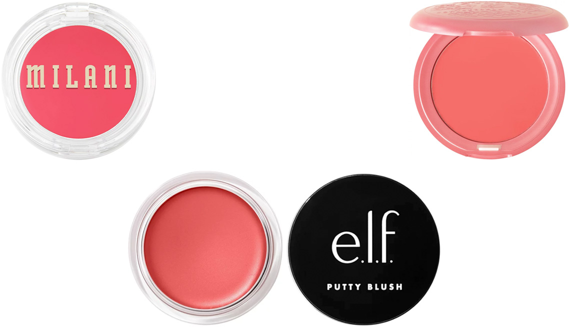 item 10 of Gallery image - Milani Cheek Kiss Cream Blush in Coral Crush; Stila Convertible Color in Petunia; e.l.f. Cosmetics Putty Blush in Tahiti
