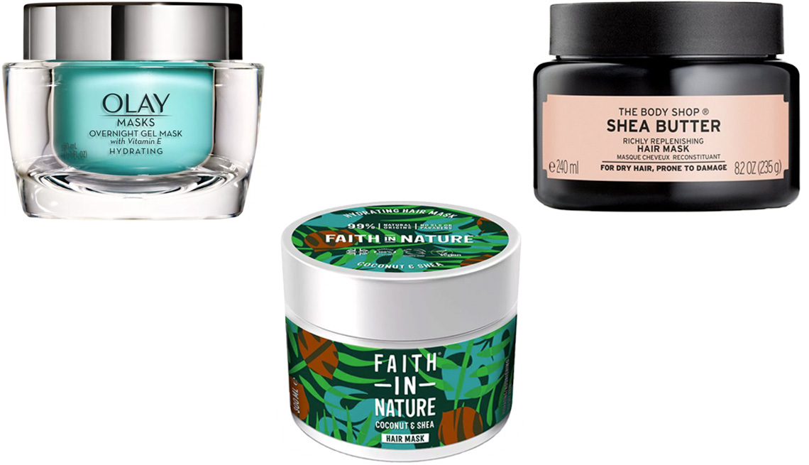 item 9 of Gallery image - Olay Masks Hydrating Overnight Gel Mask with Vitamin E; The Body Shop Shea Butter Richly Replenishing Hair Mask; Faith in Nature Coconut & Shea Butter Hydrating Mask