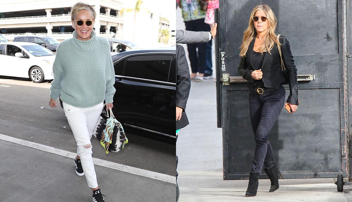 item 9 of Gallery image - Sharon Stone (izquierda) y Jennifer Aniston.