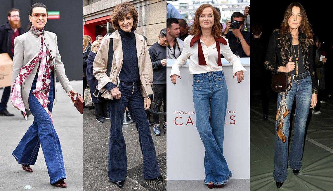 item 3 of Gallery image - (De izquierda a derecha) Juliette Binoche, Ines de La Fressange, Isabelle Huppert y Carla Bruni.