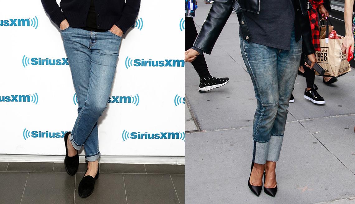 item 10 of Gallery image - Primer plano de unos jeans usados por Uma Thurman (izquierda) y Taraji P. Henson.