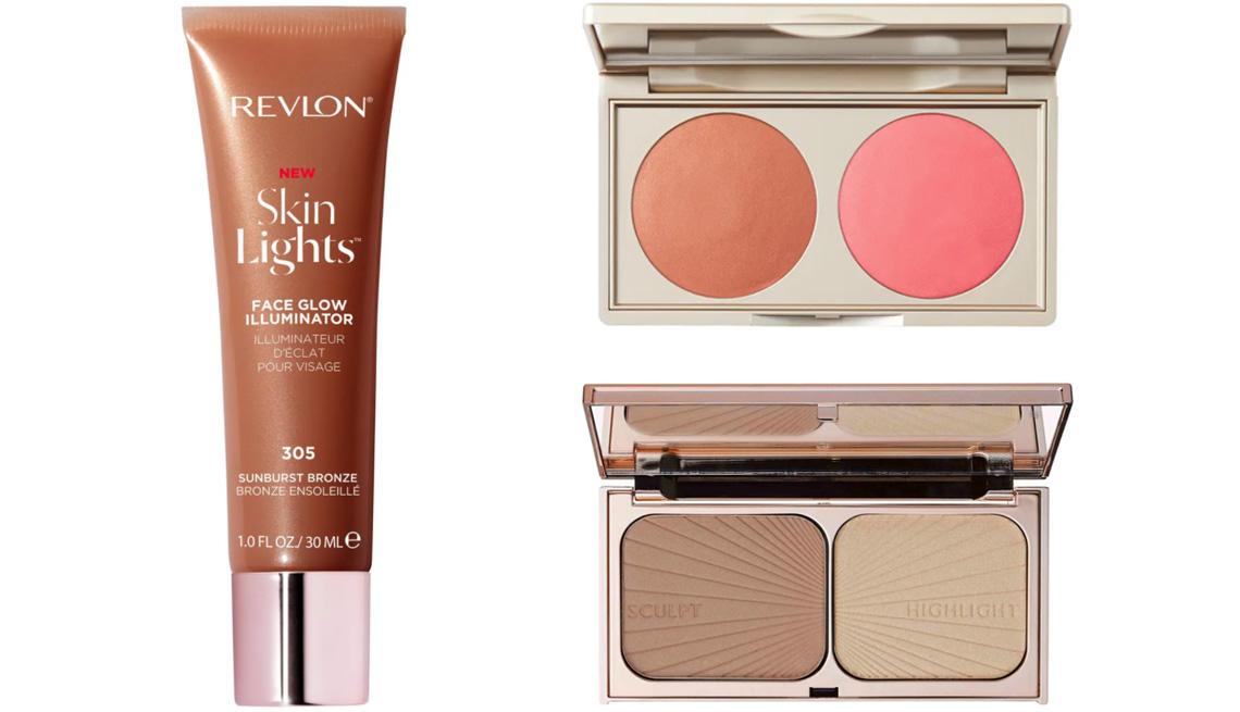 item 8 of Gallery image - Revlon Skin Lights Face Glow Illuminator and Liquid Bronzer; Stila Putty Blush & Bronzer Duo; Charlotte Tilbury Filmstar Bronze & Glow Contour Duo