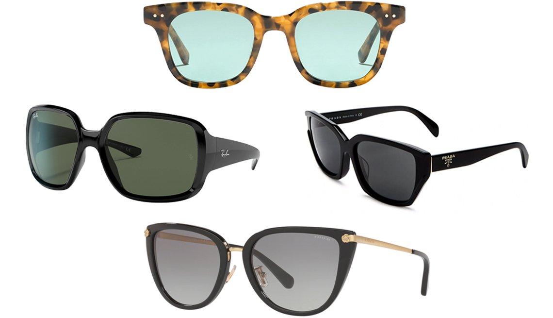 item 2 of Gallery image - (Desde la izquierda, en el sentido de las agujas del reloj) gafas de sol RB4347 de Ray-Ban; gafas de sol Cape de J.Crew en carey pacana; gafas de sol cuadradas para mujer de Prada en negro/humo; gafas de sol 0HC8276 500211 56 de Coach en negro.