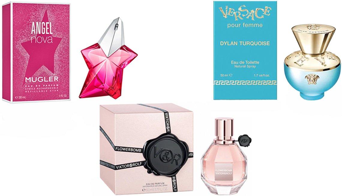 item 4 of Gallery image - Mugler Angel Nova Eau de Parfum; Versace Dylan Turquoise Eau de Toilette; Viktor & Rolf Flowerbomb Eau de Parfum Spray