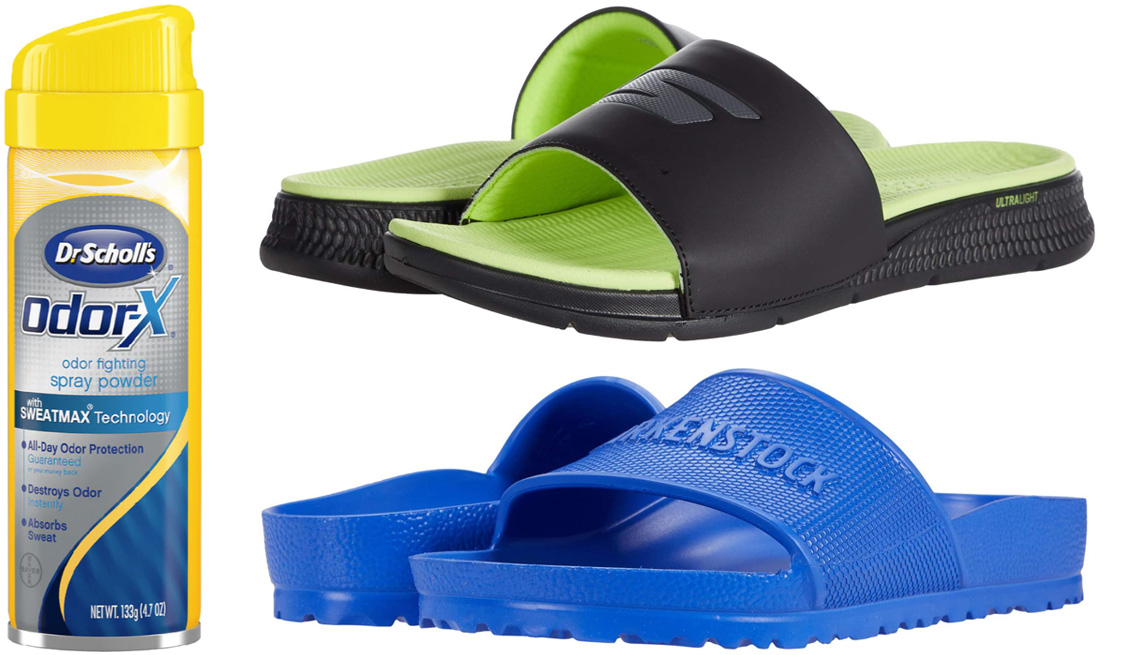 item 8 of Gallery image - Dr. Scholl's Odor-X Odor Fighting Spray Powder; SKECHERS Performance Go Consistent Sandal; Birkenstock Barbados Essentials in Ultra Blue EVA