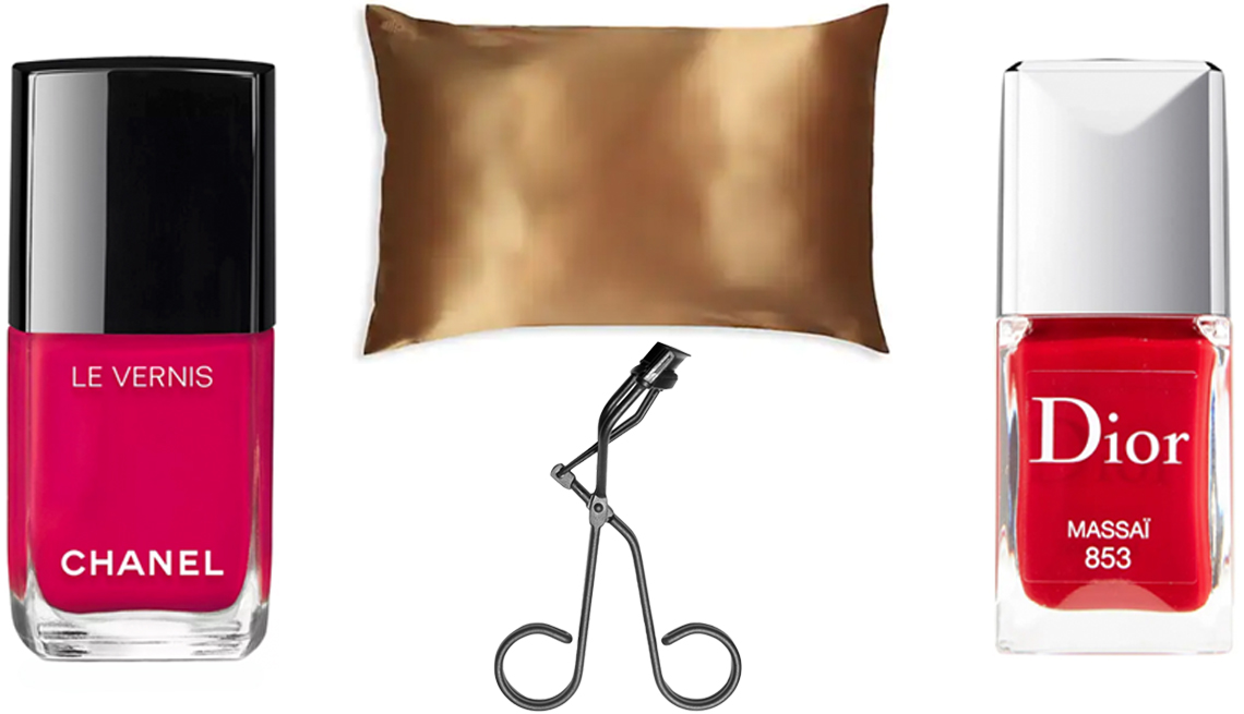 item 11 of Gallery image - Chanel Le Vernis Longera Nail Colour in 506 Camèlia; Slip Silk Pillowcase in Gold; Dior Vernis Gel Shine & Long Wear Nail Lacquer in Massai; Surratt Beauty Relevée Eye Lash Curler