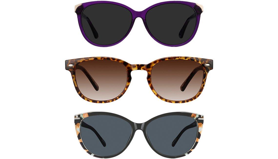 item 11 of Gallery image - EyeBuyDirect Lima Cat Eye Purple Sunglasses; Zenni Optical Square Sunglasses in Tortoiseshell 125625; Zenni Optical Cat-Eye Sunglasses 2024421