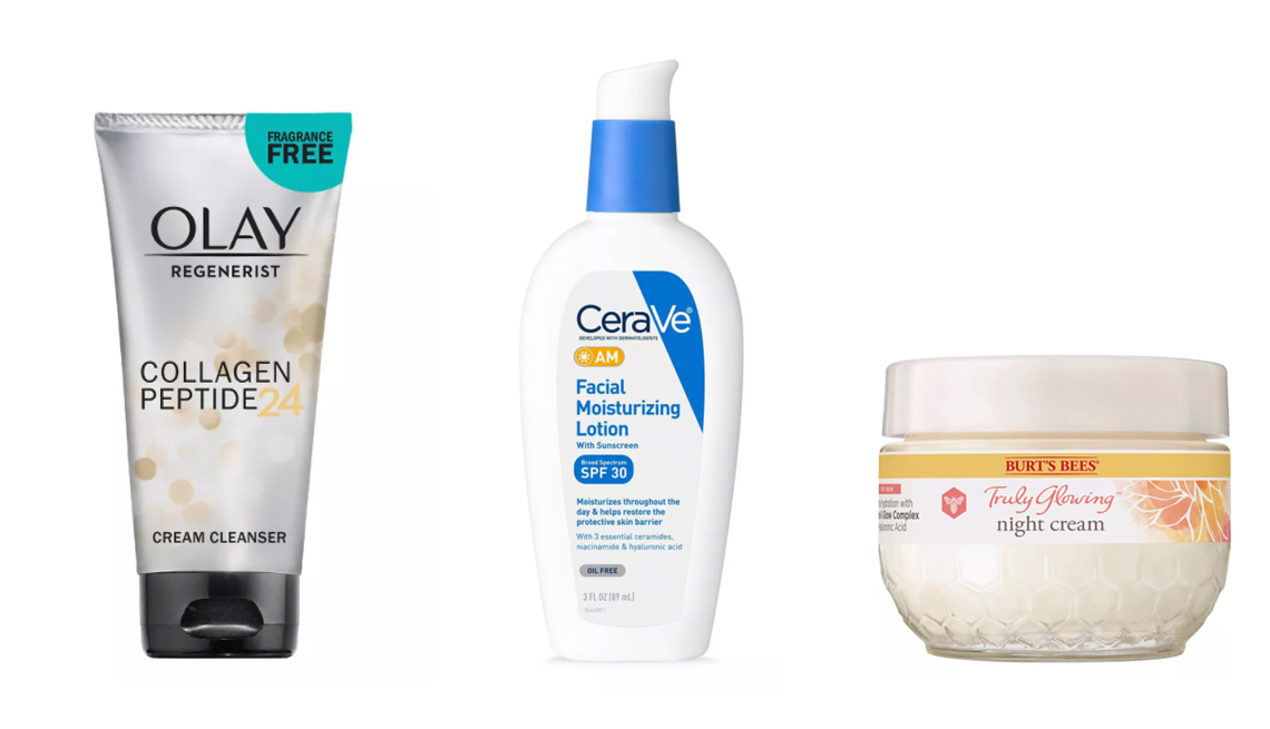 item 1 of Gallery image - olay regenerist collagen cream cleanser cerave am facial lotion with sunscreen burts bees night cream for dry skin