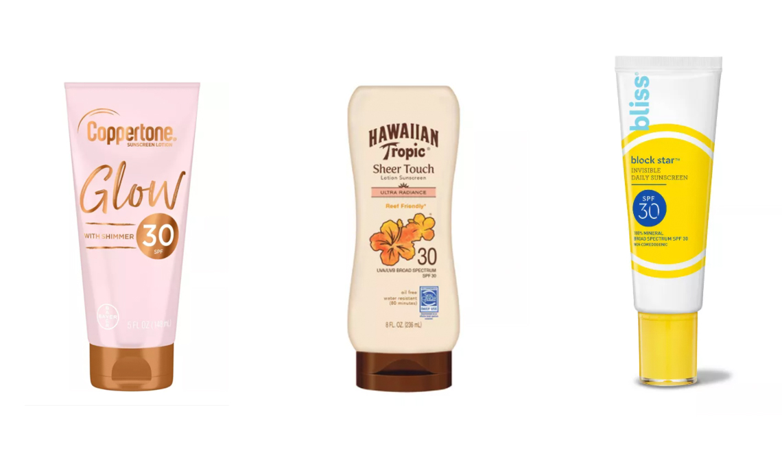 item 3 of Gallery image - coppertone glow with shimmer sunscreen hawaiian tropic sheer touch sunscreen bliss block star invisible sunscreen