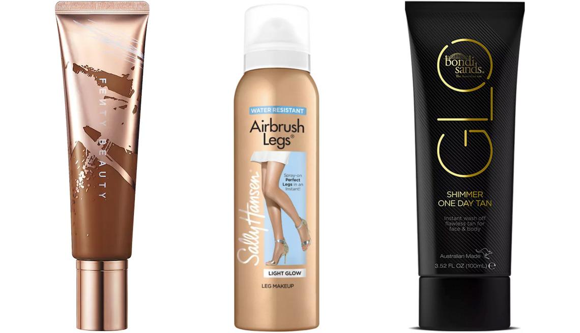 item 4 of Gallery image - Fenty Beauty by Rihanna Body Sauce Body Luminizing Tint; Sally Hansen Airbrush Legs Body Makeup Spray; Bondi Sands Glo Shimmer One Day Tan Cream