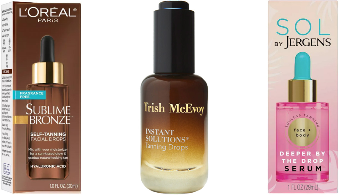 item 2 of Gallery image - L'Oréal Paris Sublime Bronze Self-Tanning Facial Drops; Trish McEvoy Instant Solutions Tanning Drops; SOL by Jergens Deeper by the Drop Serum