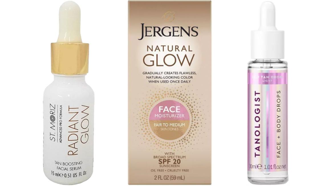 item 2 of Gallery image - St. Moriz Tan Boosting Facial Serum Tanning Drops; Jergens Natural Glow Face Moisturizer in fair/medium SPF 20; Tanologist Drops Sunless Tanning Treatment
