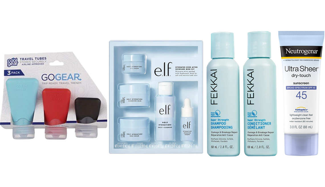item 9 of Gallery image - Cool Gear Go Gear Travel Tubes; e.l.f. Cosmetics Hydrated Ever After Skincare Mini Kit; FEKKAI Power Pair Super Strength Mini Duo; Neutrogena Ultra Sheer Dry-Touch Sunscreen Lotion, 3 oz