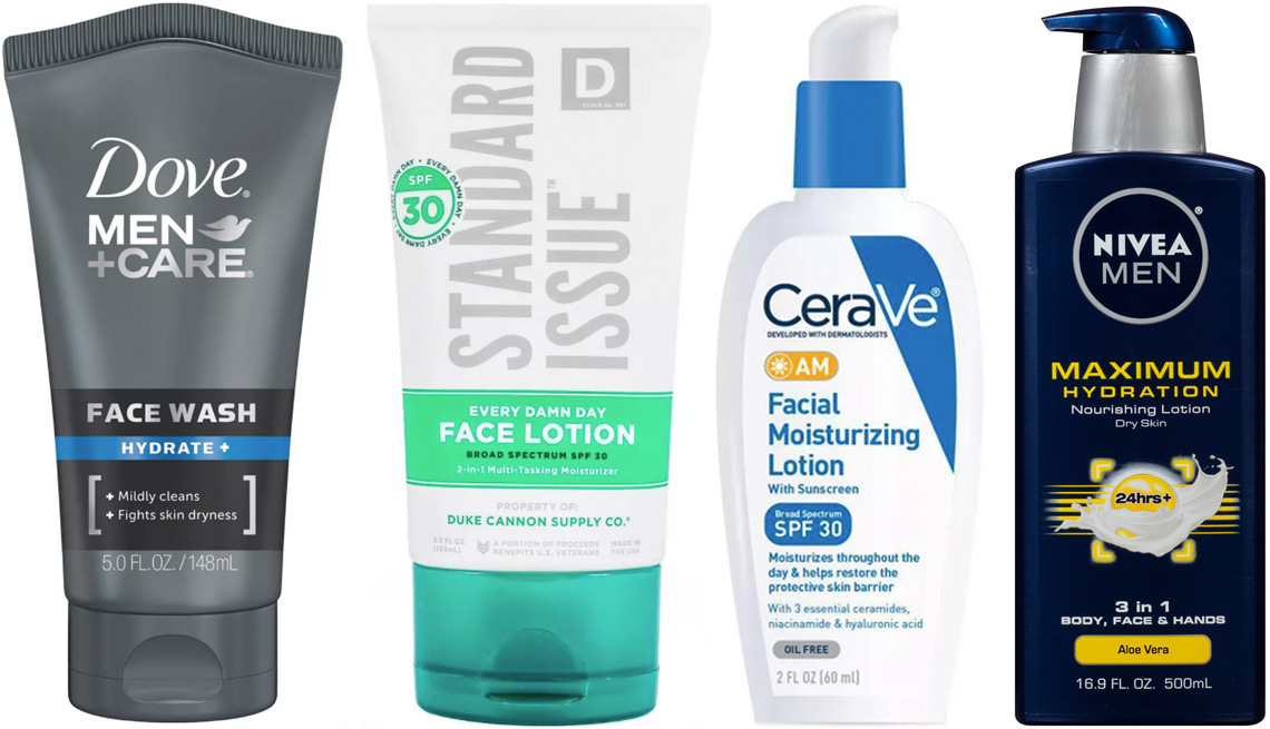 item 4 of Gallery image - Dove Men and Care Hydrate Face Wash; Duke Cannon Standard Issue Broad Spectrum Face Lotion SPF 30; CeraVe AM Facial Moisturizing Lotion SPF 30; Nivea Men Maximum Hydration 3 in 1 Nourishing Body Lotion